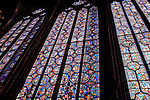 Stained Glass Window of the Upper Chapel, Ste Chapelle; Paris; France; Europe