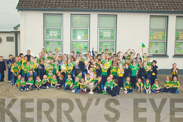 GREATDAY: A great day for the pupils of Abbeydorney NS on Tuesday as they got to see the Sam Maguiore Cup...