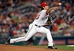 16 August 2008: Washington Nationals' pitcher Steven Shell on the mound in relief against the Colorado Rockies at Nationals Park in Washington, DC.  The Rockies defeated the Nationals 13-6, handing the last place Nationals their 9th consecutive loss. ..Mandatory Photo Credit: Ed Wolfstein Photo