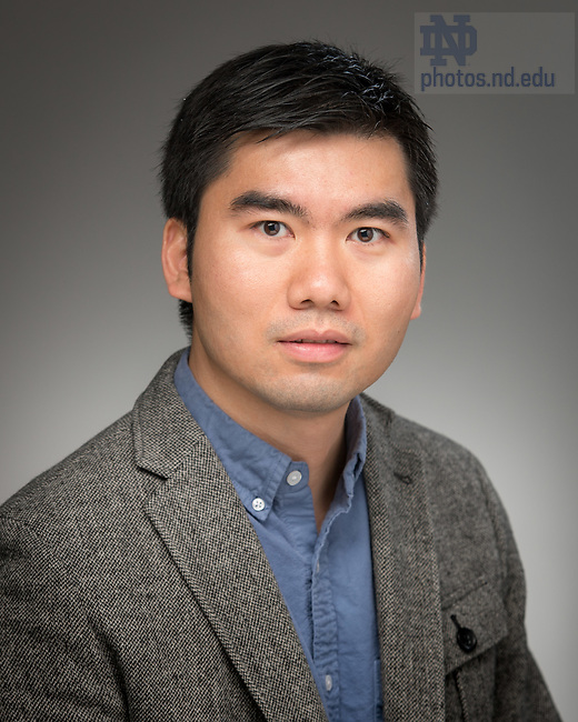 May 11, 2017; Tengfei Luo, Associate Professor of Aerospace and Mechanical Engineering, University of Notre Dame (Photo by Matt Cashore/University of Notre Dame)