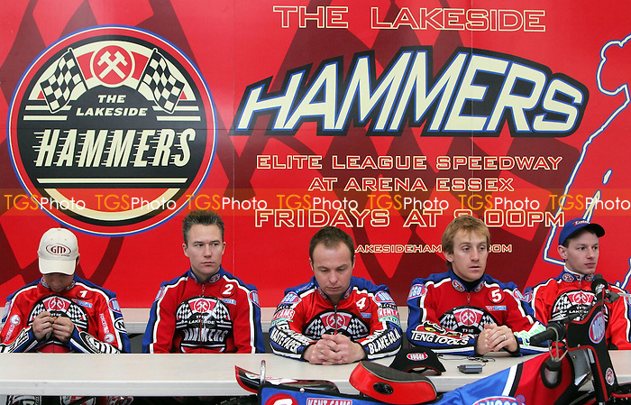 Lakeside Hammers 2007 Press Day - 07/03/07 - Mandatory Credit: Gavin Ellis/TGSPHOTO..