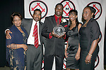 11 January 2008:  O'Brian White (l) of the University of Connecticut holds his 2007 Hermann Trophy together with his family.....The 2007 Hermann Trophy was presented to the NCAA Division I female and male players of the year by the Missouri Athletic Club in St. Louis, Missouri.