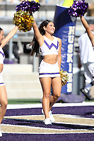 SEP 12, 2015:  University of Washington cheerleader Karli Berger vs Sacramento State at Husky Stadium in Seattle, Washington. Washington won over Sacramento State.
