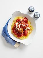 Spaghetti Squash and Chicken Meatballs