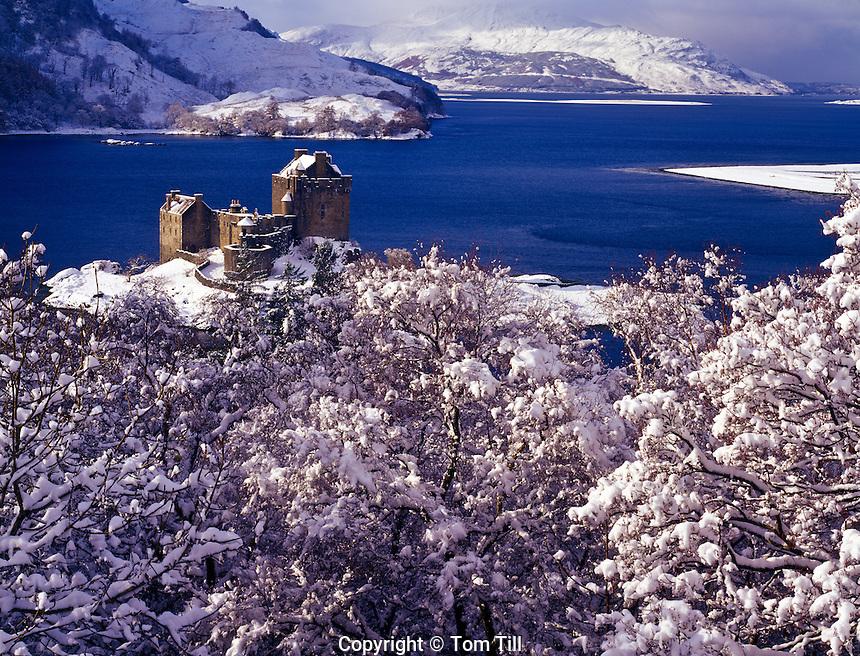 Eilean Donan Castle in winter, Scotland, United Kingdom