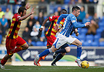 St Johnstone v Partick Thistle....17.10.15  SPFL     McDiarmid Park, Perth<br /> Michael O'Halloran breaks free<br /> Picture by Graeme Hart.<br /> Copyright Perthshire Picture Agency<br /> Tel: 01738 623350  Mobile: 07990 594431