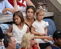 FLUSHING NY- SEPTEMBER 10: Jessica Alba, Honor Marie Warren and Haven Garner Warren are sighted watching Angelique Kerber Vs Karolina Pliskova during the womens finals on Arthur Ashe Stadium at the USTA Billie Jean King National Tennis Center on September 10, 2016 in Flushing Queens. Credit: mpi04/MediaPunch
