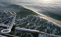 Media Boat. Mavericks Surf Contest in Half Moon Bay, California on February 13th, 2010.