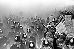 National Front march Lewisham, South London England 1977. .The police protect the NF march from left wing demonstrators.