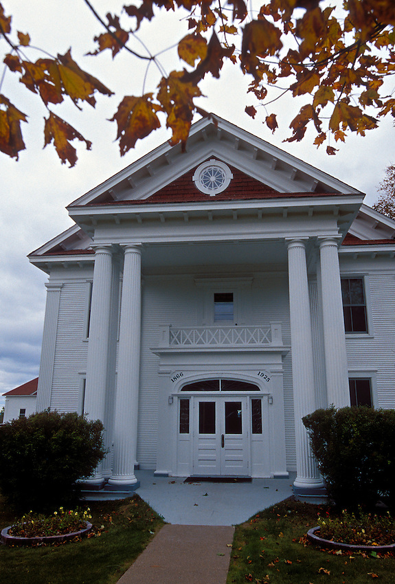 The Keweenaw County Courthouse in Eagle River, Mich. in fall.