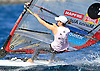 Portugal, Funchal, Madeira :  Mariana Alabau competes on February 24, in 2012 European Windsurfing Championships in the bay of Funchal on the Portuguese archipelago of Madeira.Photo Gregorio Cunha .Campeonato da Europa de windsuf, classe RSX, na baia da cidade do Funchal,  Iha da Madeira, Portugal..Foto Gregorio Cunha
