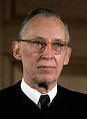 """Associate Justice of the United States Supreme Court Lewis F. Powell, Jr., photographed at the Supreme Court in Washington, D.C. on Monday, April 24, 1972.  Powell was appointed in 1971 by U.S. President Richard M. Nixon..Credit: Benjamin E. """"Gene"""" Forte / CNP"""