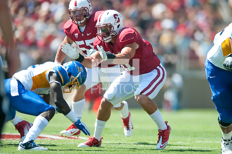 STANFORD, CA - SEPTEMBER 3: Stanford defeats San Jose State 57-3 at Stanford Stadium, September 3, 2011 in Stanford, California.