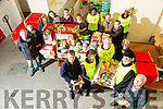 SVP putting together 800 hampers for local families. Pictured Junior Locke, TD Michael Healy-Rae, TD John Brassil, Sam Locke, TD Martin Ferris, and Christy Lynch with Volunteers on Saturday