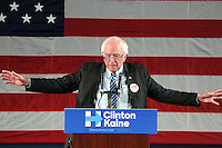 PHILADELPHIA, PA - OCTOBER 8 :  Senator Bernie Sanders of Vermont pictured campaigning in Pennsylvania for Hillary Clinton and Katie McGinty where Sanders discussed Hillary Clinton's plan to build an economy that works for everyone, not just those at the top and Donald Trump's plan, which would benefit himself and other millionaires and billionaires like him at Gorshman Hall in Philadelphia, Pa on October 8, 2016  photo credit  Star Shooter/MediaPunch