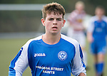 St Johnstone U16's.Jack Steven.Picture by Graeme Hart..Copyright Perthshire Picture Agency.Tel: 01738 623350  Mobile: 07990 594431