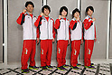 (L to R) Kazuhito Tanaka (JPN), Ryohei Kato (JPN), Kohei Uchimura (JPN), Koji Yamamuro (JPN), Yusuke Tanaka (JPN), July 2, 2011 - Artistic Gymnastics : Japanese Artistic Gymnastics team member pose for media during the Send-off Ceremony for the London Olympic in Tokyo, Japan.   (Photo by Yusuke Nakanishi/AFLO SPORT)