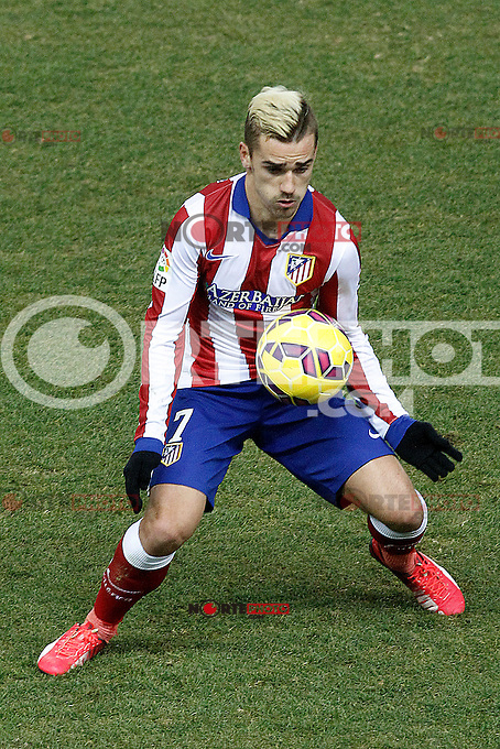 Atletico de Madrid's Antoine Griezmann during La Liga match.January 24,2015. (ALTERPHOTOS/Acero) /NortePhoto<br />