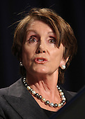 U.S. House Minority Leader Nancy Pelosi (Democrat of California) speaks to the National Prayer Breakfast in Washington, DC, February 2, 2012. .Credit: Chris Kleponis / Pool via CNP