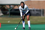 15 November 2014: Liberty's Mercedes Cox. The University of North Carolina Tar Heels hosted the Liberty University Flames at Francis E. Henry Stadium in Chapel Hill, North Carolina in a 2014 NCAA Division I Field Hockey Tournament First Round game. UNC won the game 2-1.