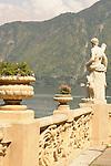 The gardens of Villa del Balbianello on Lake Como, Italy.