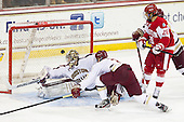 Parker Milner (BC - 35), Patch Alber (BC - 3), Sahir Gill (BU - 28) - The Boston College Eagles defeated the visiting Boston University Terriers 5-2 on Saturday, December 1, 2012, at Kelley Rink in Conte Forum in Chestnut Hill, Massachusetts.