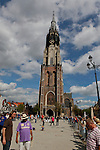 A Church tower in Delft, Holland.