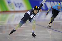 SPEEDSKATING: CALGARY: 13-11-2015, Olympic Oval, ISU World Cup, 500m B-division, Daniel Greig (AUS), ©foto Martin de Jong