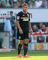 FUSSBALL   1. BUNDESLIGA   SAISON 2013/2014   2. SPIELTAG SV Werder Bremen - FC Augsburg       11.08.2013 Raul Bobadilla (FC Augsburg) am Ball