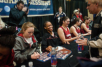 INDIANAPOLIS, IN - APRIL 2, 2011: Melanie Murphy during the post-practice autograph session at Conseco Fieldhouse at the NCAA Final Four in Indianapolis, IN on April 1, 2011.