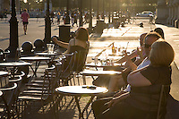 Marly Cafe Terrace, Louvre Art Museum, Paris, France