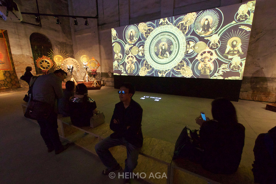 56th Art Biennale in Venice - All The World's Futures.<br /> Arsenale.<br /> China pavilion.<br /> Video Installation by Lu Yang.