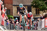 Picture by Alex Whitehead/SWpix.com - 14/05/2017 - Cycling - HSBC UK British Cycling -  National Women's Road Series - Lincoln Grand Prix - Alice Barnes Drops Cycling cobbles Michaelgate