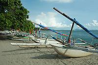 traditional fishing boats--some hulls made of timber, some of fiberglass