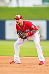 28 February 2017: Washington Nationals infielder Brandon Snyder warms up prior to the Spring Training inaugural game against the Houston Astros at the Ballpark of the Palm Beaches in West Palm Beach, Florida. The Nationals defeated the Astros 4-3 in Grapefruit League play. Mandatory Credit: Ed Wolfstein Photo *** RAW (NEF) Image File Available ***