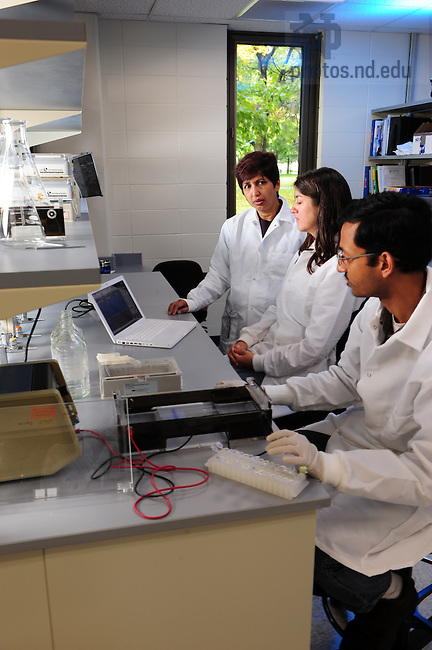 Kasturi Haldar lab in Galvin Hall..Photo by Matt Cashore/University of Notre Dame