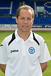 St Johnstone FC Season 2012-13 Photocall.Coach Alec Cleland.Picture by Graeme Hart..Copyright Perthshire Picture Agency.Tel: 01738 623350  Mobile: 07990 594431