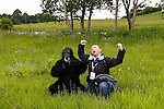 Brian and a Gorilla pose for a picture during a treasure hunt at the Caulfield/Mulryan family reunion at Ardenode Stud, County Kildare, Ireland on Sunday, June 23rd 2013. (Photo by Allison Garfinkel)