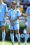 11 September 2011: North Carolina's Ranee Premji (CAN). The Texas A&M Aggies defeated the University of North Carolina Tar Heels 4-3 in overtime at Koskinen Stadium in Durham, North Carolina in an NCAA Division I Women's Soccer game.