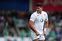 Lewis Boyce of England U20 looks on during a break in play. World Rugby U20 Championship Final between England U20 and Ireland U20 on June 25, 2016 at the AJ Bell Stadium in Manchester, England. Photo by: Patrick Khachfe / Onside Images