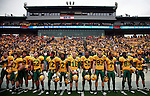07 JAN 2012: North Dakota State University prepares to take the field against Sam Houston State during the Division I Men's FCS Football Championship held at Pizza Hut Park in Frisco, TX. North Dakota State beat Sam Houston State 17-6. Tom Pennington/ NCAA Photos