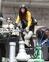 "Megan Fox on the set of "" Teenage Mutant Ninja Turtles "" in New York City"
