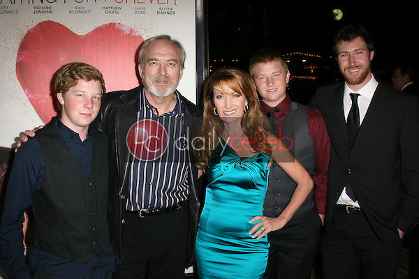 Jane Seymour with James Keach and family<br />