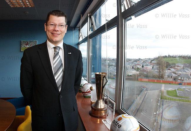 Neil Doncaster the SPL Chief Executive in his offices at Hampden after chairing a meeting of the SPL clubs discussing the Rangers situation