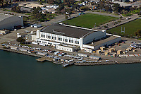 aerial photograph of the Hall of Transportation, Building 2, Treasure Island, San Francisco, California