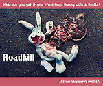 Bugs Bunny as roadkill