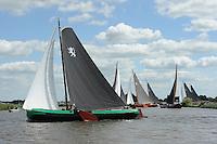 SKUTSJESILEN: GROU: SKS skûtsjesilen, Friese Sporten, 24-07-2010, Fryslân, skûtsje Leeuwarden (Rienk Ulbesz), ©foto Martin de Jong