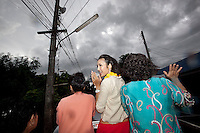 "YOLLANDA ""NOK"" SUANYOT scours the town streets as she speechs to the voters to grateful their support after she was declared winner of the provincial elections for government in Nan, Thailand. Known formerly as a beauty queen, is running today a political campaign for the local rule of Nan city. 30-year-old Yollada Suanyot, who was born a male, has become the first transgender to register as an election candidate. The elections were hold on last May 27th in 24 constituencies in 15 districts, where she was declared winner with 3,812 point for the first ranking. In accord with the Thai media this is the first time in Thailand that a transgender is taking part in a provincial election."