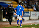 St Johnstone v Kilmarnock..28.12.11   SPL .Chris Millar limps off.Picture by Graeme Hart..Copyright Perthshire Picture Agency.Tel: 01738 623350  Mobile: 07990 594431