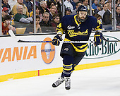 Stephane Da Costa (Merrimack - 24) - The Merrimack College Warriors defeated the University of New Hampshire Wildcats 4-1 in their Hockey East Semi-Final on Friday, March 18, 2011, at TD Garden in Boston, Massachusetts.